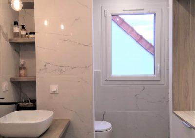 Côté WC et douche finalisé