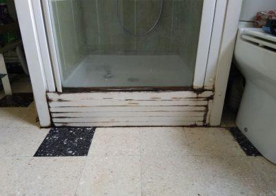 Ancien sol de la salle de bain