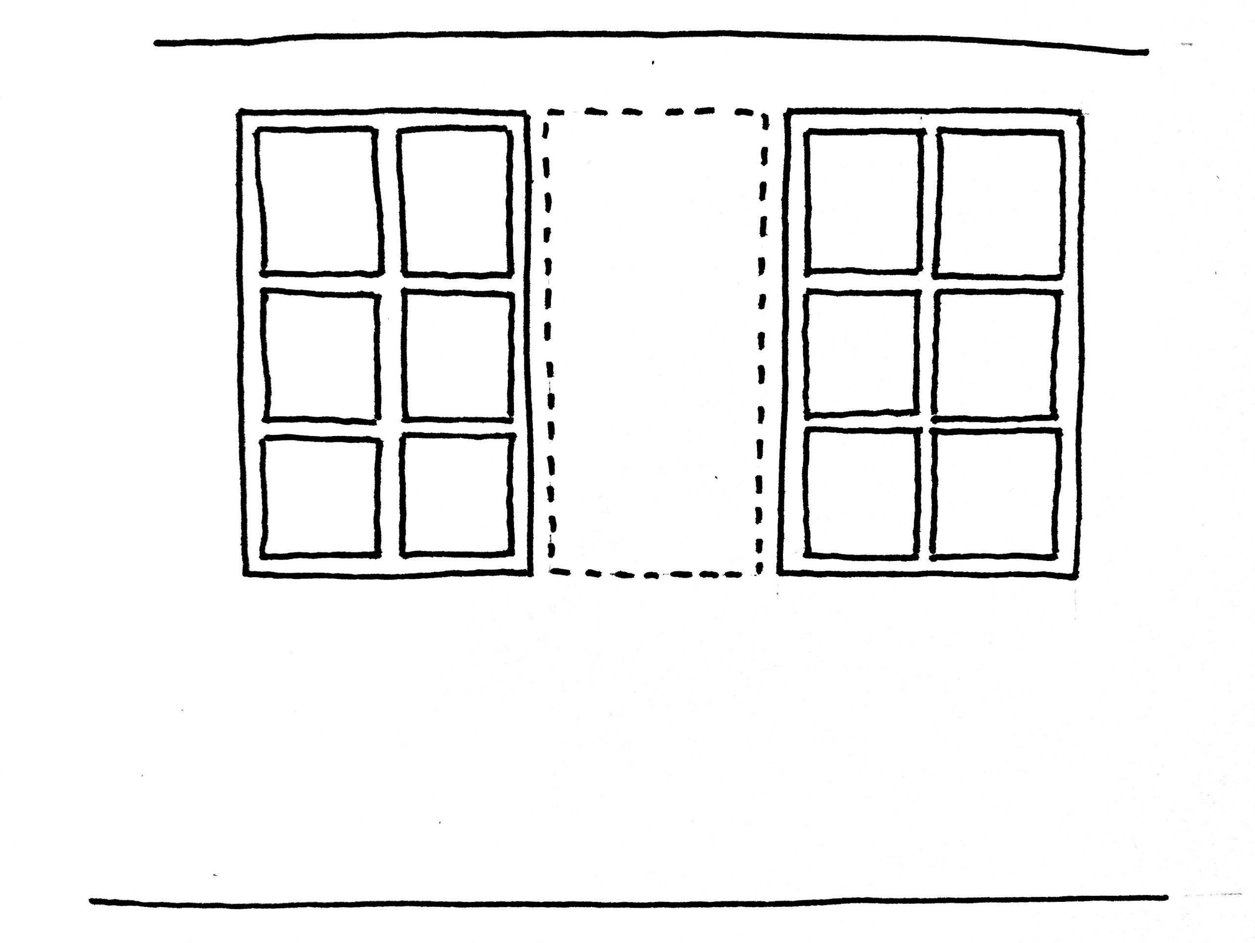 Pan de mur entre fenêtres