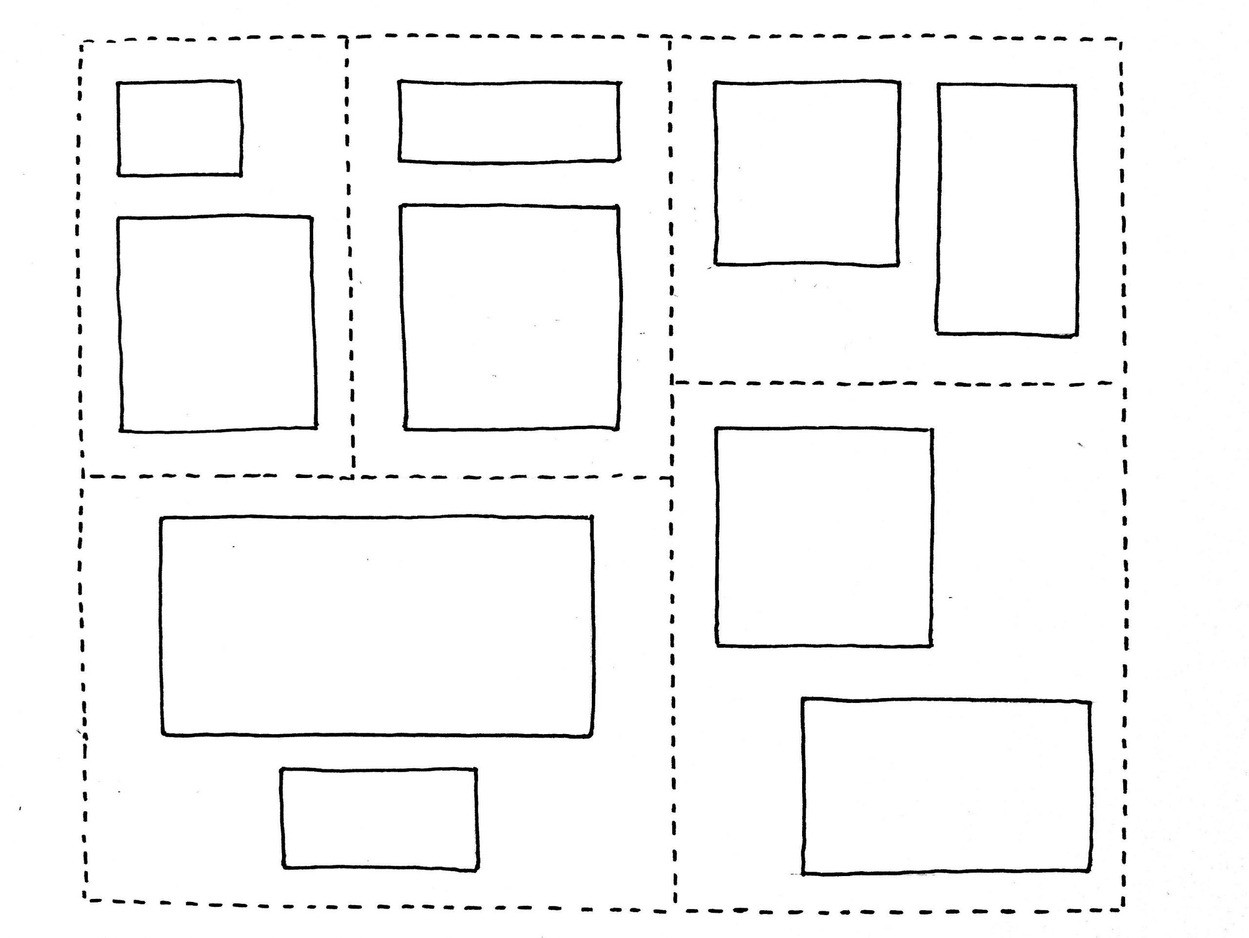 Configuration cadres différents
