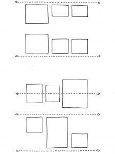 Cadres alignements et symétrie